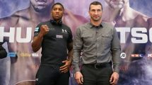 Anthony Joshua and Wladimir Klitschko Stateside to promote heavyweight megafight