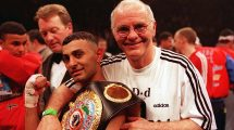 Brendan Ingle with Naseem Hamed
