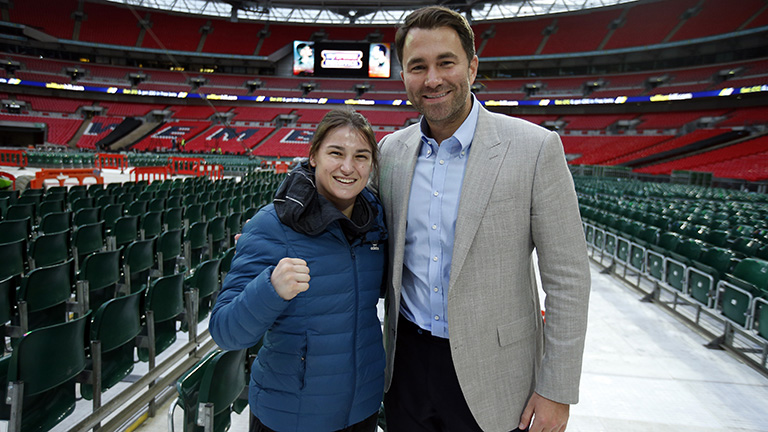 Eddie Hearn and Katie Taylor