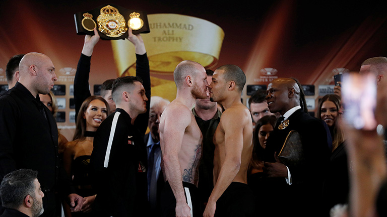 George Groves vs Chris Eubank Jr weigh in