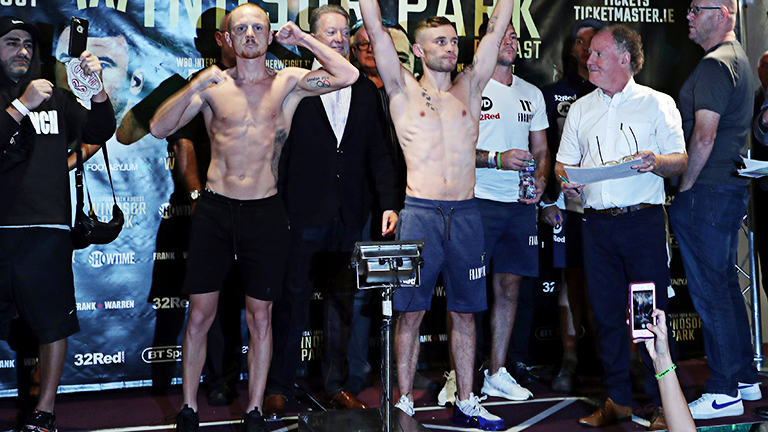 Carl Frampton v Luke Jackson & Tyson Fury v Francesco Pianeta Weigh-In