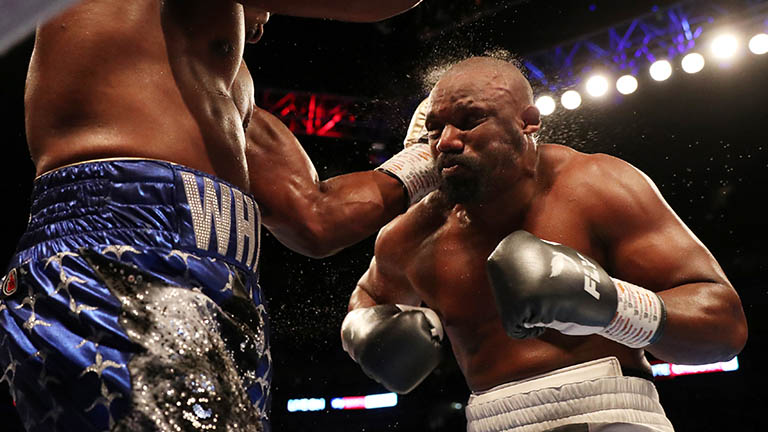 Boxing - Dillian Whyte v Dereck Chisora - The O2 Arena, London, Britain - December 22, 2018   Dillian Whyte in action against Dereck Chisora   Action Images via Reuters/Peter Cziborra
