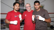 Amir Khan, Freddie Roach and Manny Pacquiao