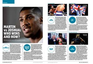 Anthony Joshua vs Charles Martin spread
