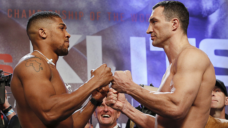 Anthony Joshua weigh-in