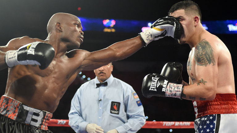 Timothy Bradley against Brandon Rios
