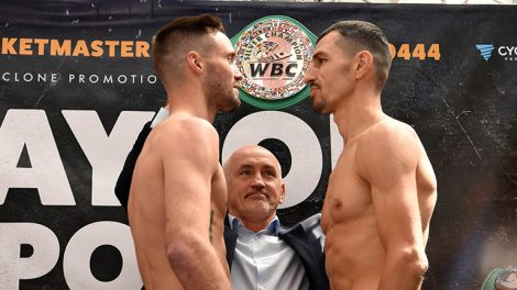 Josh Taylor vs Viktor Postol fight time