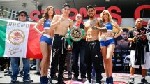 Leo Santa Cruz vs Abner Mares weigh in