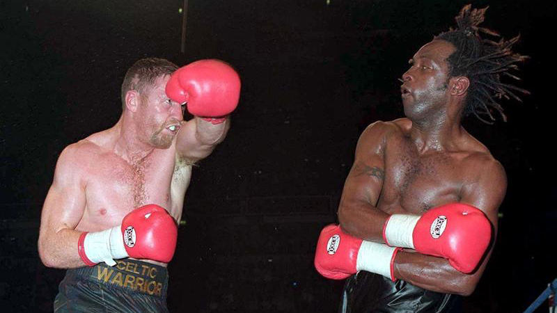Steve Collins on taking a punch