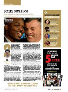 Teddy Atlas spread