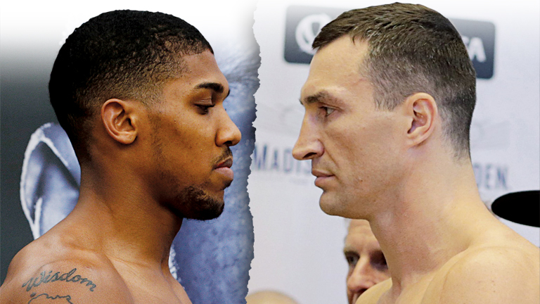 Anthony Joshua weigh in