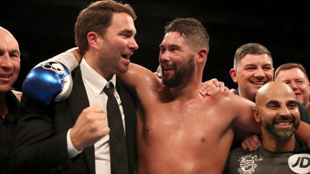 Eddie Hearn will decide Tony Bellew's next opponent