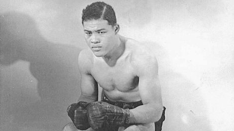 Joe Louis boxing