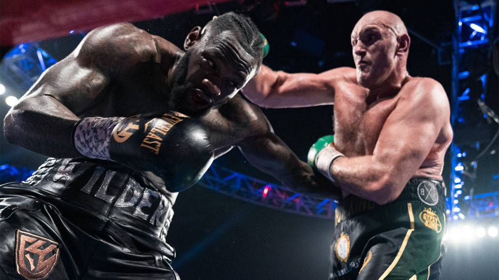 heavyweight Deontay Wilder vs Fury
