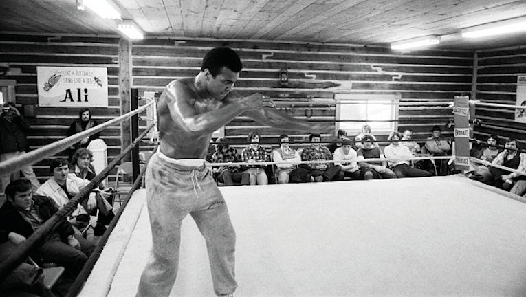 Muhammad Ali shadowboxing