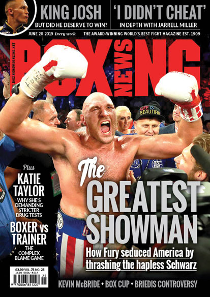 Boxing News issue cover
